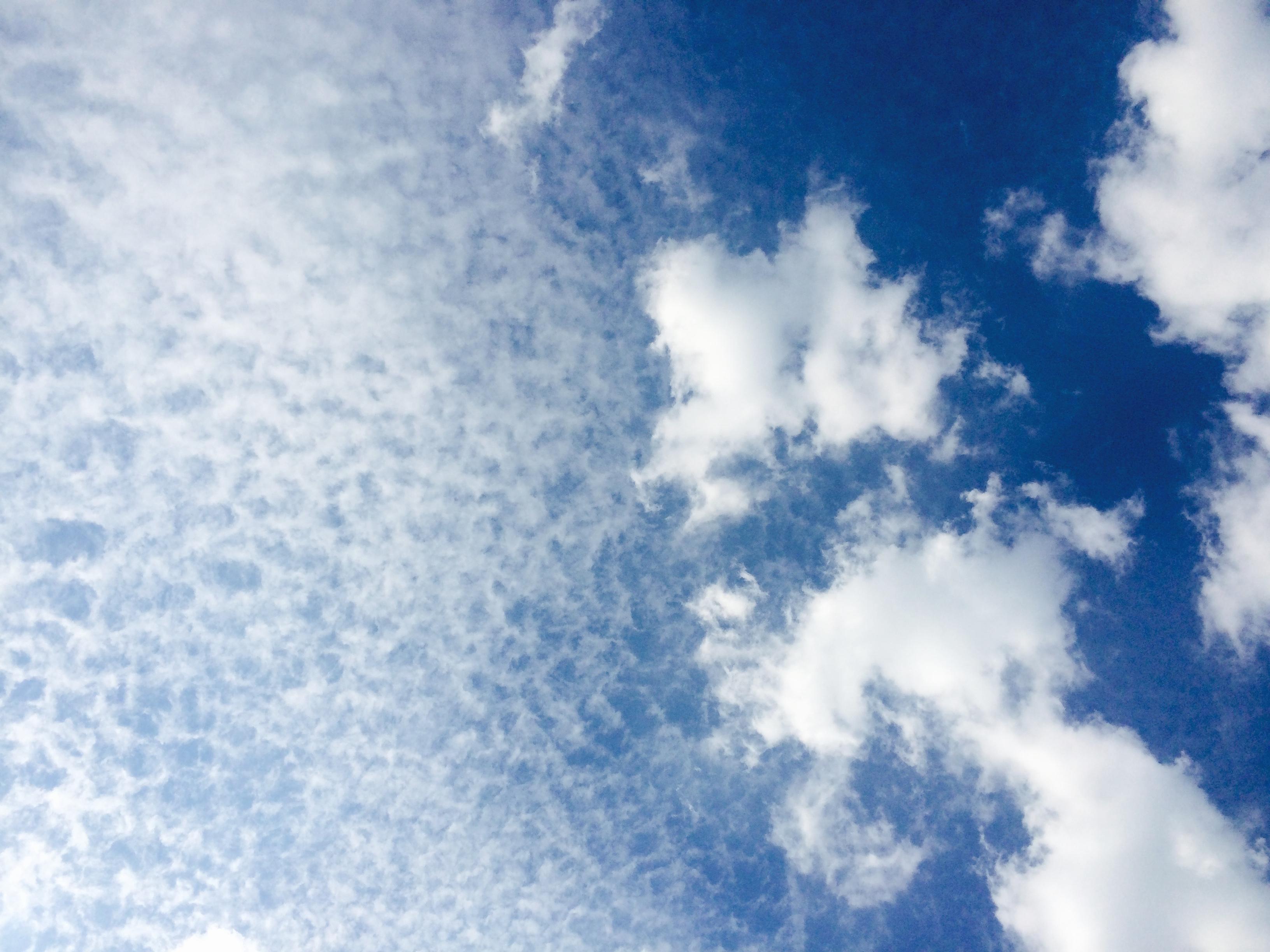 Wolken an einem schönen Tag